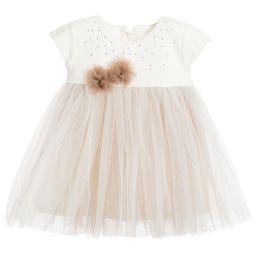 Sofija - Baby Girls Ivory & Beige Dress | Childrensalon