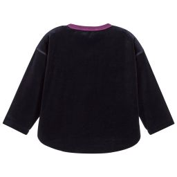 Sonia Rykiel Paris - Girls Blue Velour Top | Childrensalon