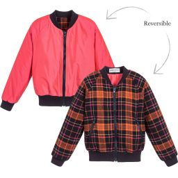 Sonia Rykiel Paris - Girls Tartan Bomber Jacket | Childrensalon