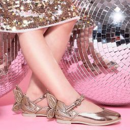 Sophia Webster Mini - Rose Gold 'Chiara' Shoes | Childrensalon