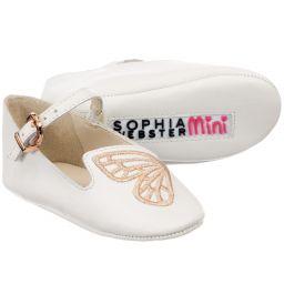 Sophia Webster Mini - White 'Bibi' Pre-Walker Shoes | Childrensalon