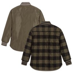 Stella McCartney Kids - Boys Green Checked Jacket   Childrensalon
