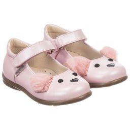 Step2wo - Girls Pink Leather Shoes  | Childrensalon
