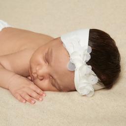 Story Loris - Baby Girls Ivory Headband & Booties Gift Set | Childrensalon
