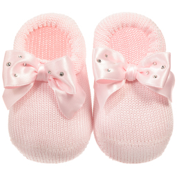 Story Loris - Baby Girls Pink Headband & Booties Gift Set | Childrensalon