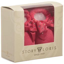 Story Loris - Girls Fuchsia Pink Booties with Bows   Childrensalon
