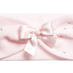 Story Loris - Girls Pale Pink Headband with Diamanté & Bow | Childrensalon