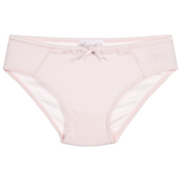 Story Loris - Girls Pink Modal & Lace Knickers | Childrensalon