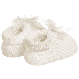 Story Loris - Ivory Booties & Headband Set  | Childrensalon