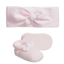 Story Loris - Pink Booties & Headband Set | Childrensalon