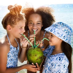 Sunuva - Girls Sun Protective (UPF 50+) 'Ikat' Swimsuit | Childrensalon