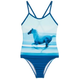 Sunuva - Girls Sun Protective (UPF50+) Horse Print Swimsuit | Childrensalon