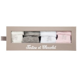 Tartine et Chocolat - Baby Girls Cotton Socks (Pack of 4) | Childrensalon