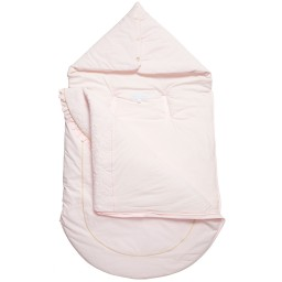 Tartine et Chocolat - Baby Girls Pale Pink Padded Cotton Nest (87cm) | Childrensalon