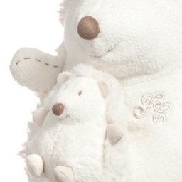 Tartine et Chocolat - Ivory Plush Fur Musical Hedgehog Soft Toy (22cm)   Childrensalon