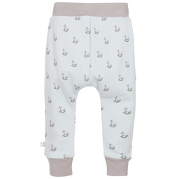 The Little Tailor - Baby Boys Blue Jersey Rocking Horse Trousers | Childrensalon