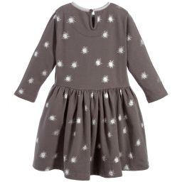 The Little Tailor - Girls Dark Grey Jersey Dress | Childrensalon