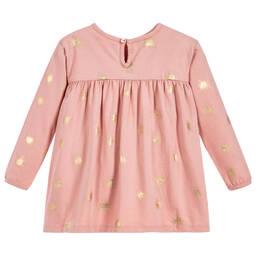 The Little Tailor - Girls Pink Jersey Top   Childrensalon