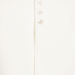 The Little Tailor - Ivory Cotton Knitted Cardigan | Childrensalon