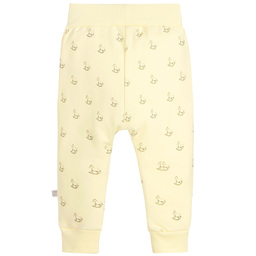 The Little Tailor - Yellow Jersey Rocking Horse Baby Trousers | Childrensalon