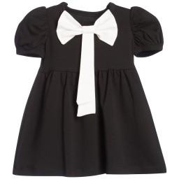The Tiny Universe - Black 'Tiny Chapel' Cotton Jersey Dress | Childrensalon