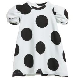 The Tiny Universe - Ivory 'The Tiny Dot' Jersey Dress | Childrensalon