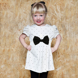 The Tiny Universe - Ivory 'Tiny Small Dot' Jersey Dress | Childrensalon
