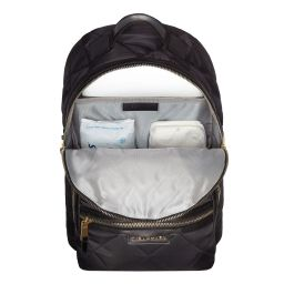 TIBA + MARL - Black Quilted Baby Changing Backpack (42cm) | Childrensalon