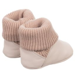 Tip Toey Joey - Baby 'Beany' Leather Boots | Childrensalon