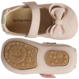 Tip Toey Joey - Baby Girls Pink Leather Shoes  | Childrensalon