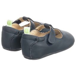 Tip Toey Joey - Blue Leather Baby Shoes | Childrensalon