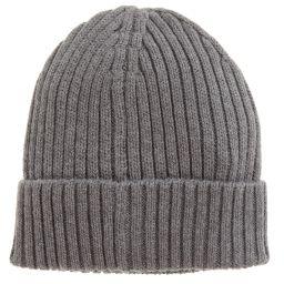 Tommy Hilfiger - Grey Cotton Beanie Hat | Childrensalon