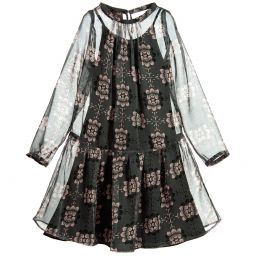 Trussardi - Girls Floral Chiffon Dress | Childrensalon