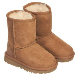 Ugg Australia - Chestnut Sheepskin Short Boots | Childrensalon