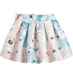 ValMax - Girls Blue Floral Skirt | Childrensalon