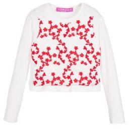ValMax - Girls Ivory & Red Top | Childrensalon