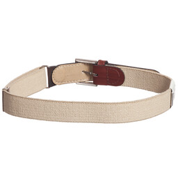 Zaccone - Beige Elasticated Belt | Childrensalon