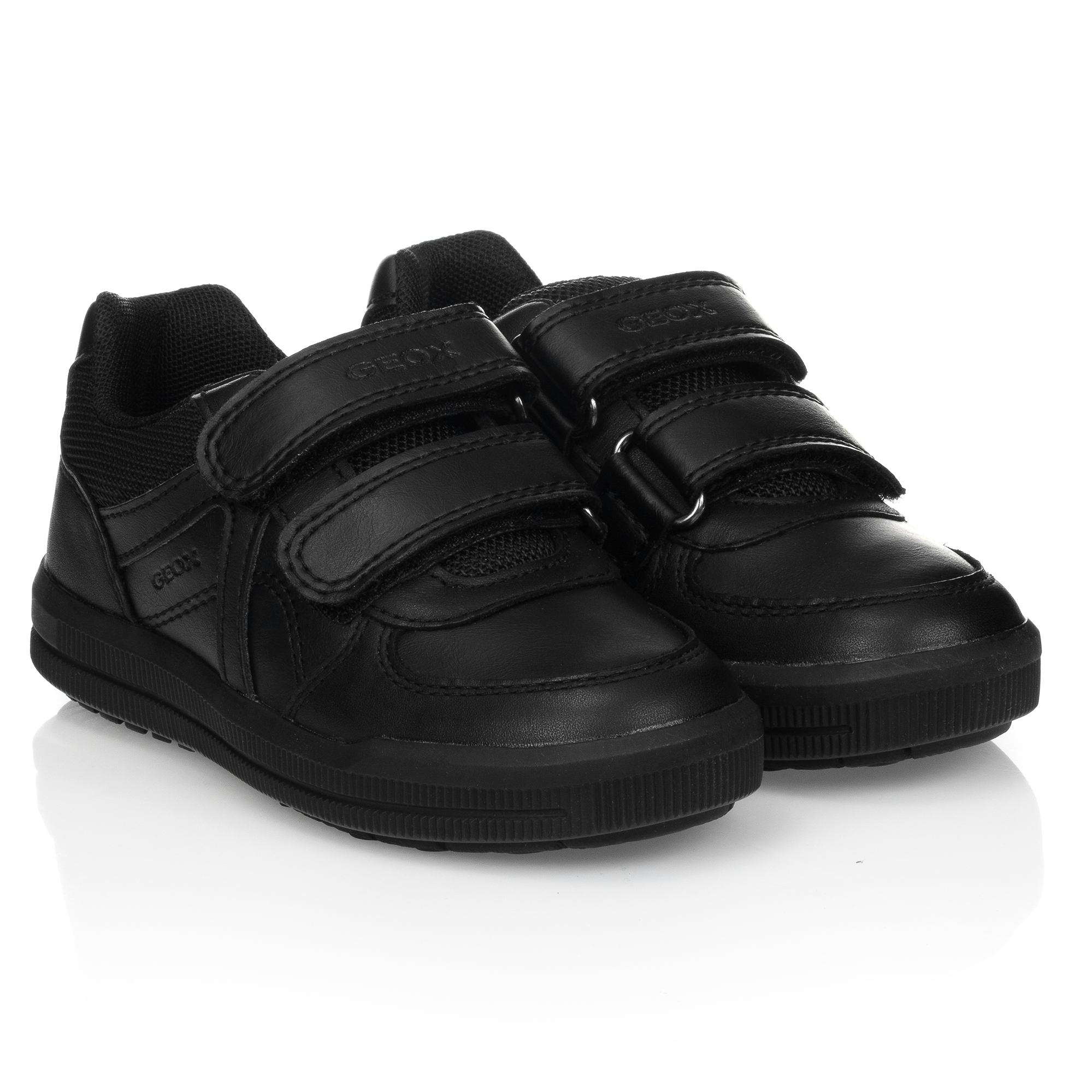 Geox - Boys Black Leather Trainers