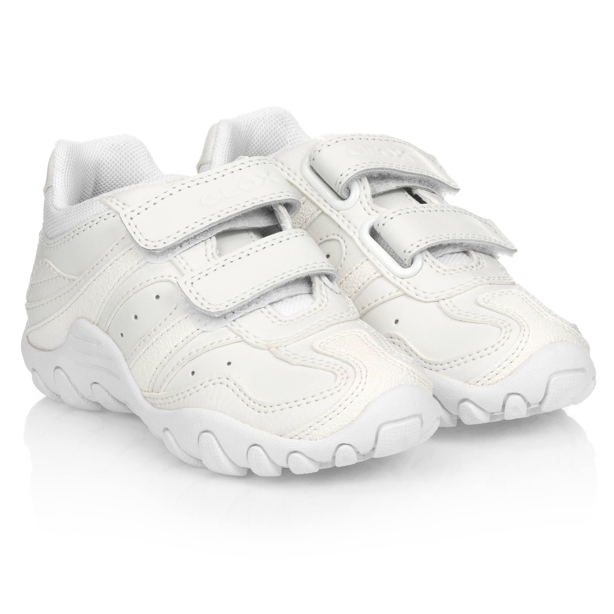 geox leather trainers