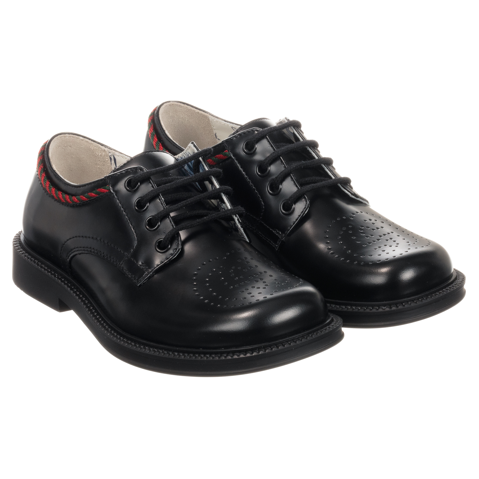 Gucci - Black Leather Lace-Up Shoes