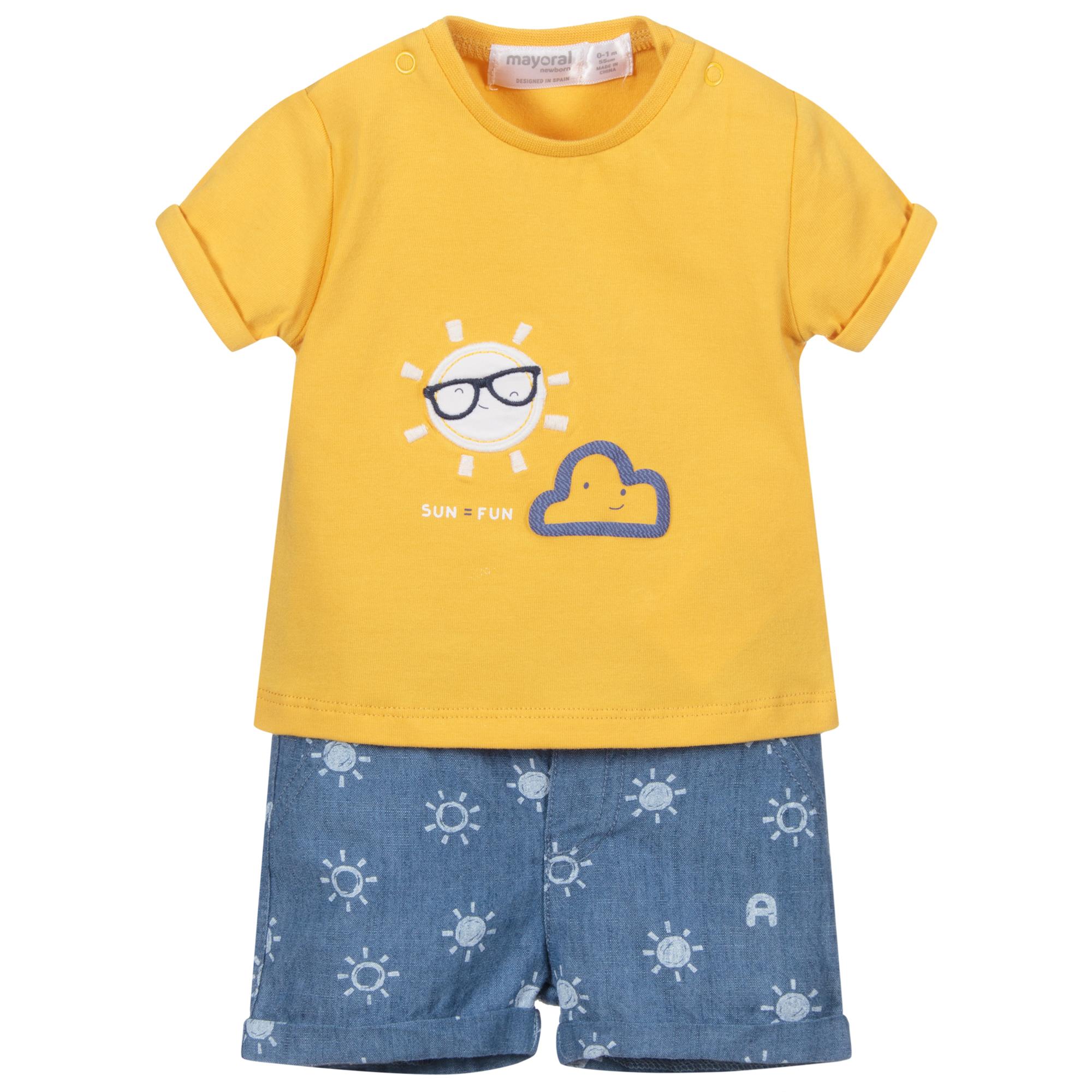 Spanish Designer MAYORAL Baby Boy 2 Piece Set Shorts//T-Shirt Set WAS £38 NOW £20