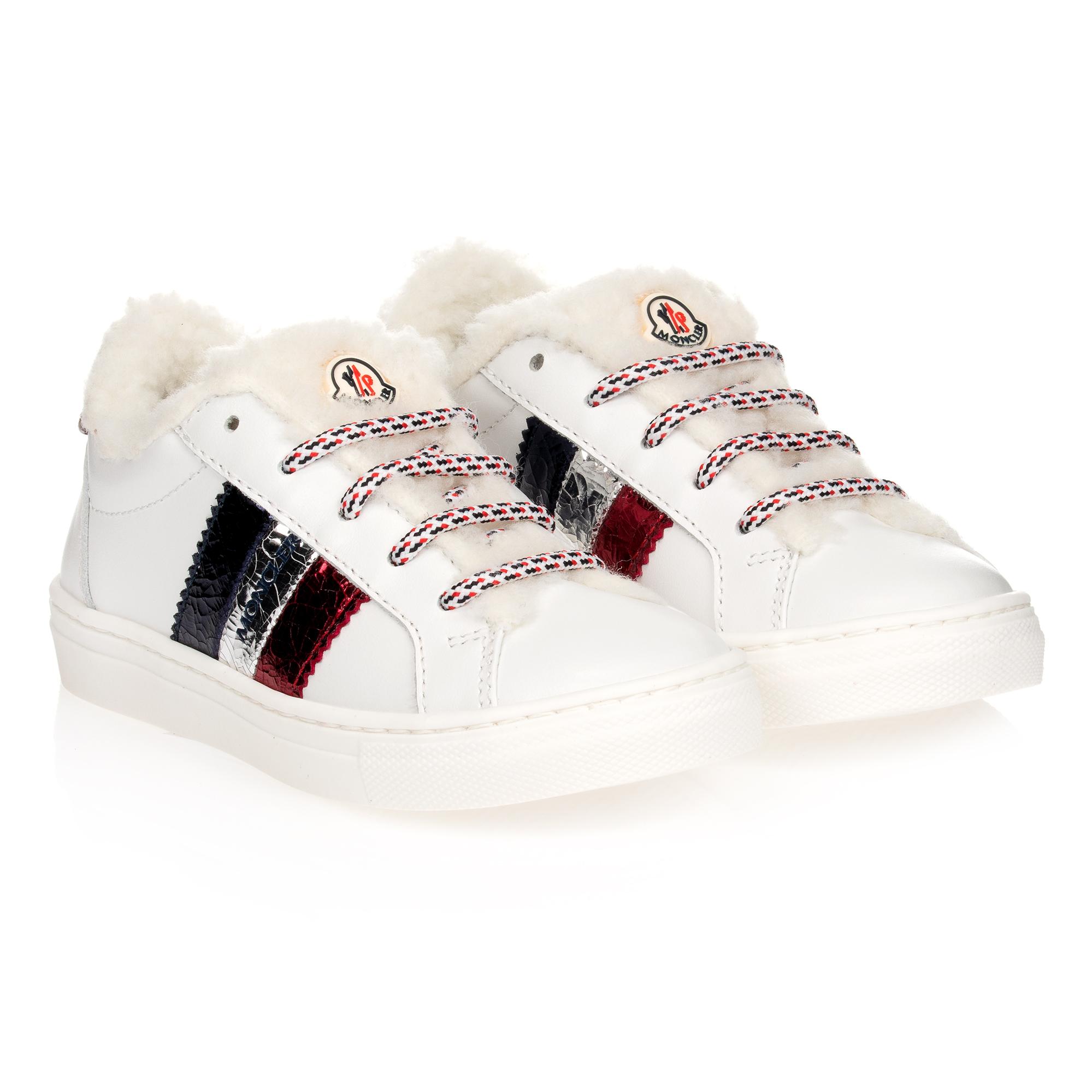 Moncler Enfant - Girls White Leather