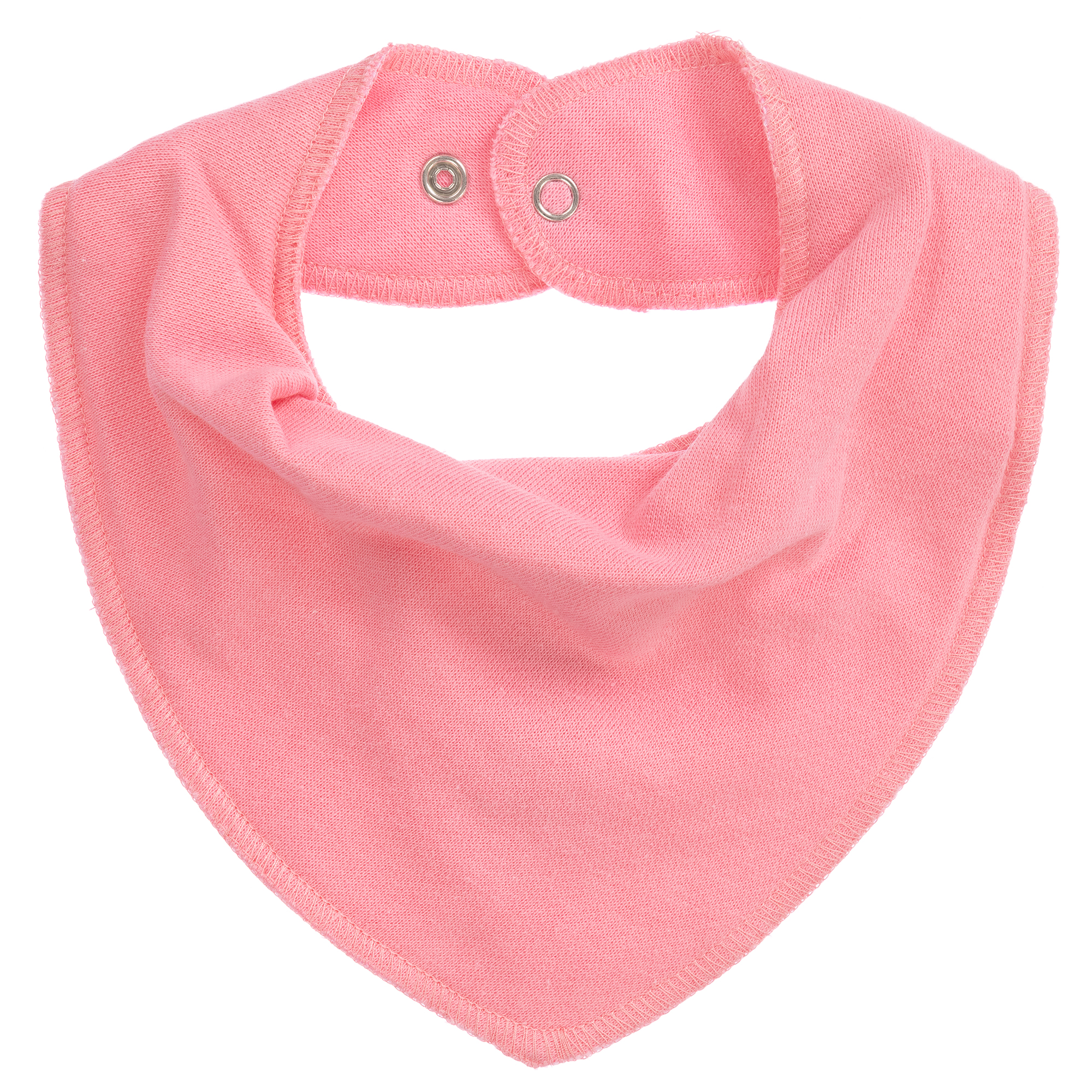 Bandana bib in pink and red